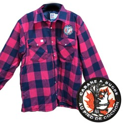 100% cotton Au Pied de Cochon Sugar Shack jacket, red