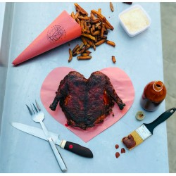 Heart shaped BBQ duck